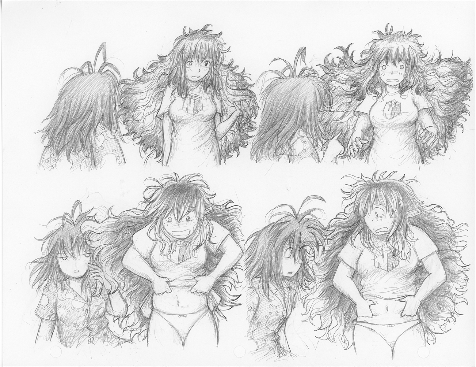 Original megatokyo pencil drawing comic 1487 chapter 12 ep 52 sheet b