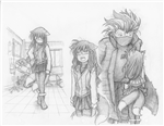 Original Megatokyo Pencil Drawing: Comic 1505, Chapter 12, Ep 68, sheet B