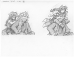 Original Megatokyo Pencil Drawing: Comic 1506, Chapter 12, Ep 69, sheet B