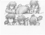 Original Megatokyo Pencil Drawing: Comic 1545, Chapter 12, Ep 108, sheet A