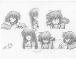 Original Megatokyo Pencil Drawing: Comic 1545, Chapter 12, Ep 108, sheet B