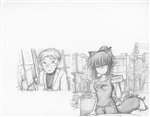 Original Megatokyo Pencil Drawing: Comic 1545, Chapter 12, Ep 108, sheet C