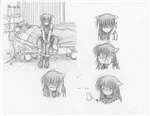 Original Megatokyo Pencil Drawing: Comic 1505, Chapter 12, Ep 68, sheet A