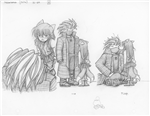 Original Megatokyo Pencil Drawing: Comic 1506, Chapter 12, Ep 69, sheet A